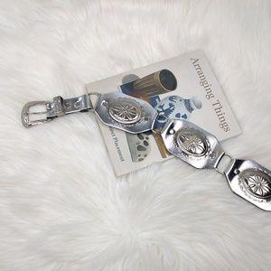Vintage Silver Concho Statement Bohemian Belt